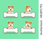 cartoon character akita inu dog ... | Shutterstock .eps vector #481891792