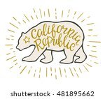 emblem of the california... | Shutterstock .eps vector #481895662