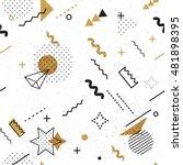 trendy geometric elements... | Shutterstock .eps vector #481898395