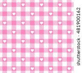 Vector Pink Gingham Seamless...
