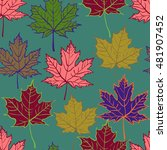 Autumn Cartoon Leaf Pattern....