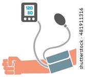 blood pressure measuring ... | Shutterstock .eps vector #481911316