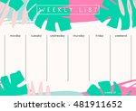 printable weekly planner... | Shutterstock .eps vector #481911652