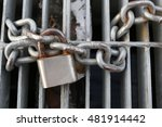 Old Padlock Chain Lock A Safet...