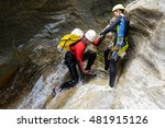 canyoning in gorgol canyon ... | Shutterstock . vector #481915126