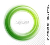 abstract transparent green... | Shutterstock .eps vector #481919482