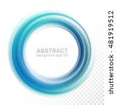 abstract transparent blue swirl ... | Shutterstock .eps vector #481919512