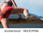 running over obstacles | Shutterstock . vector #481919986