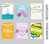 greeting card banner  birthday  ... | Shutterstock .eps vector #481921645