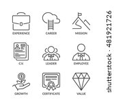 professional success icons set  ... | Shutterstock .eps vector #481921726