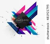 geometric background. template...   Shutterstock .eps vector #481921795