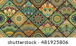 tiles flower background.... | Shutterstock .eps vector #481925806