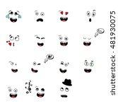 set of fun emoticon smileys... | Shutterstock .eps vector #481930075