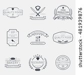 set of retro vintage thin line... | Shutterstock .eps vector #481939876