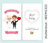 wedding invitation card... | Shutterstock .eps vector #481941322