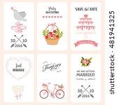 wedding label template. cartoon ... | Shutterstock .eps vector #481941325