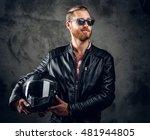 portrait of redhead male in... | Shutterstock . vector #481944805