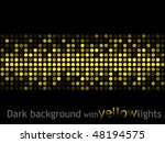 dark background with yellow...