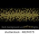 dark background with yellow...