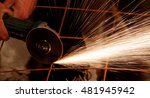 a man working with electric... | Shutterstock . vector #481945942