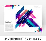 geometric background. template... | Shutterstock .eps vector #481946662