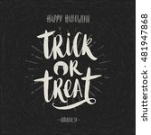 trick or treat   hand drawn...   Shutterstock .eps vector #481947868