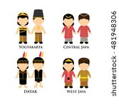 indonesian boys and girls in... | Shutterstock .eps vector #481948306