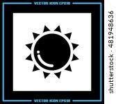 sun icon vector illustration...   Shutterstock .eps vector #481948636