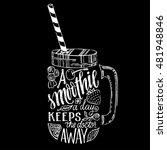 chalk lettering. vector hand... | Shutterstock .eps vector #481948846