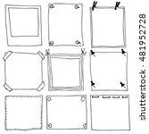 hand drawn frame vector...   Shutterstock .eps vector #481952728