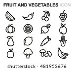 vector black line fruit and... | Shutterstock .eps vector #481953676