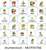 vector abstract business logo... | Shutterstock .eps vector #481954786