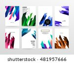 geometric background. template... | Shutterstock .eps vector #481957666