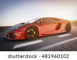 modern red metallic sports car... | Shutterstock . vector #481960102