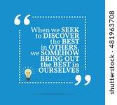 inspirational motivational... | Shutterstock . vector #481963708