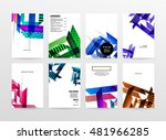 geometric background. template... | Shutterstock .eps vector #481966285