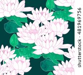 waterlily lives flowers... | Shutterstock . vector #481969756