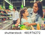 family in the supermarket.... | Shutterstock . vector #481976272