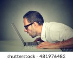 side profile man staring... | Shutterstock . vector #481976482