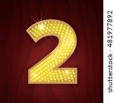 gold light lamp bulb font... | Shutterstock .eps vector #481977892