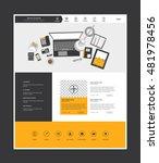 vector website template in flat ...
