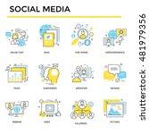 social media concept icons ... | Shutterstock .eps vector #481979356