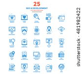 set of modern flat line icon... | Shutterstock .eps vector #481982422