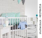 image of a modern cosy baby room | Shutterstock . vector #481986316