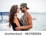 portrait of romantic young... | Shutterstock . vector #481988086