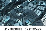 3d abstract geometric shape... | Shutterstock . vector #481989298