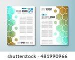 brochure template  flyer design ... | Shutterstock .eps vector #481990966
