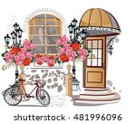 series of backgrounds decorated ... | Shutterstock .eps vector #481996096
