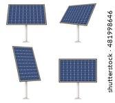 solar panel  vector | Shutterstock .eps vector #481998646