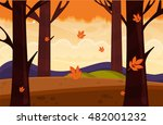 autumn nature landscape with... | Shutterstock .eps vector #482001232
